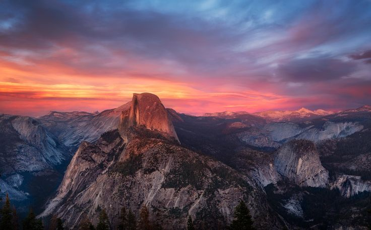 Sunset over Glacier Point [OC] [28691789] #reddit