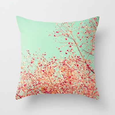 Society 6.com- hundreds of throw pillows for $20 each! Plus Art, T-shirts etc//Little dots of red Throw Pillow by Andrea Caroline  - $20.00