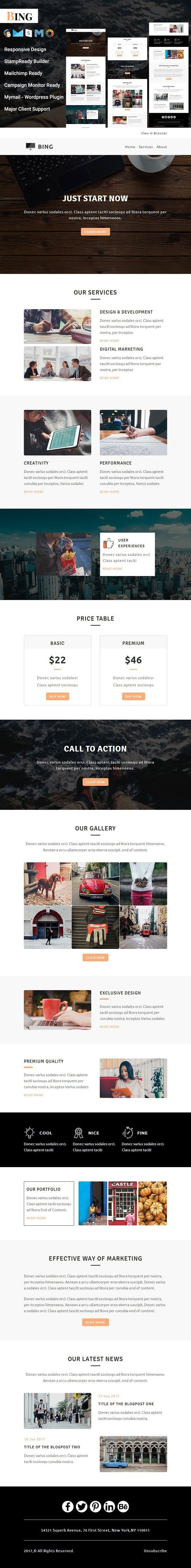 Bing - Responsive Email Template. Email Templates
