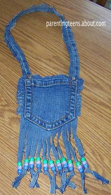 Pocket Purse Made with Jeans Craft for Teens