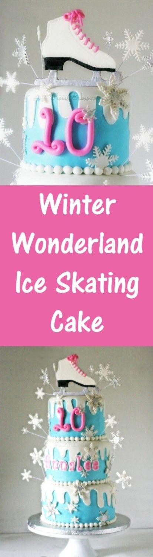 Winter Wonderland Ice Skating Cake | RoseBakes.com