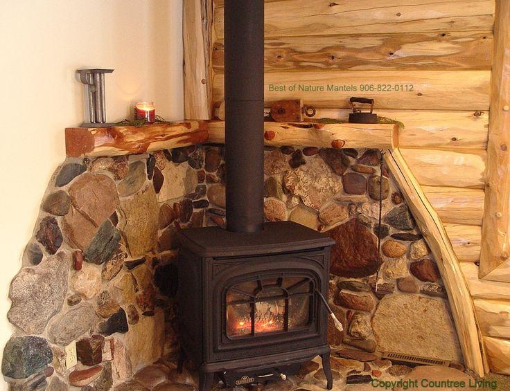 corner wood burning stoves design ideas wood stove fireplace mantel michigan