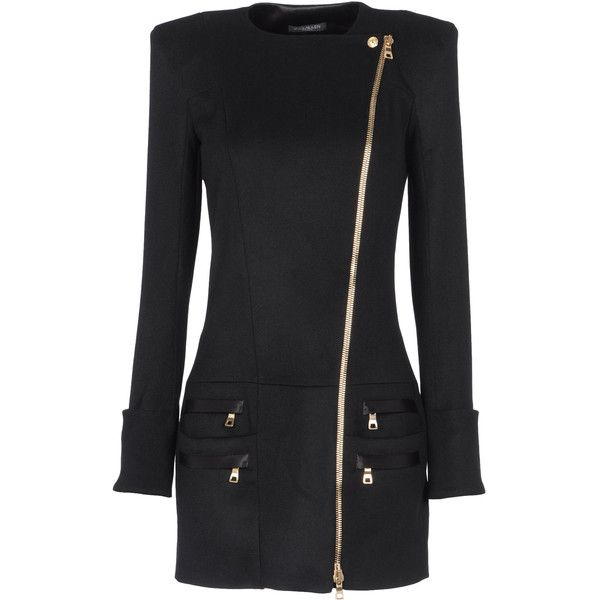 BALMAIN Coat ❤ liked on Polyvore