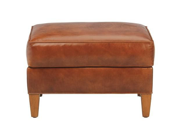 A leather ottoman looks better with age. #hgtvmagazine http://www.hgtv.com/decorating-basics/learn-from-vern-ottomans/pictures/page-4.html?soc=pinterest: Leather Ottoman