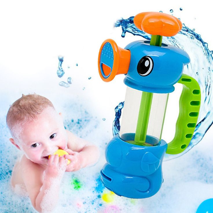 Baby Bath Water Toys Sea Horse Sprinkler Pumping Design Colourful Hippocampal Shape Eco-friendly Plastic ABS Baby Bath Toy Игрушки Для Купания