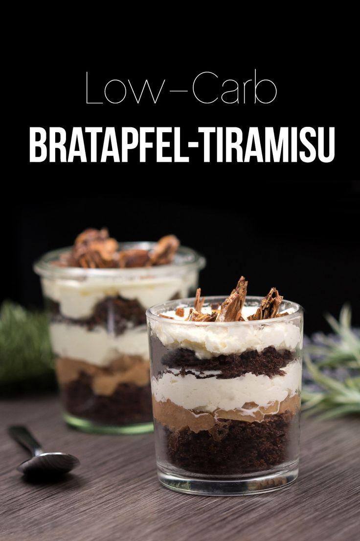 Das Bratapfel-Tiramisu ist low-carb, lecker und ein perfektes Dessert für Weihnachten oder allgemein im Winter.