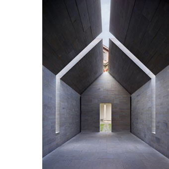 Stone House, Interni Think Tank, Milan 2010 developed by John Pawson.  Glass in the roof like that would look nice.