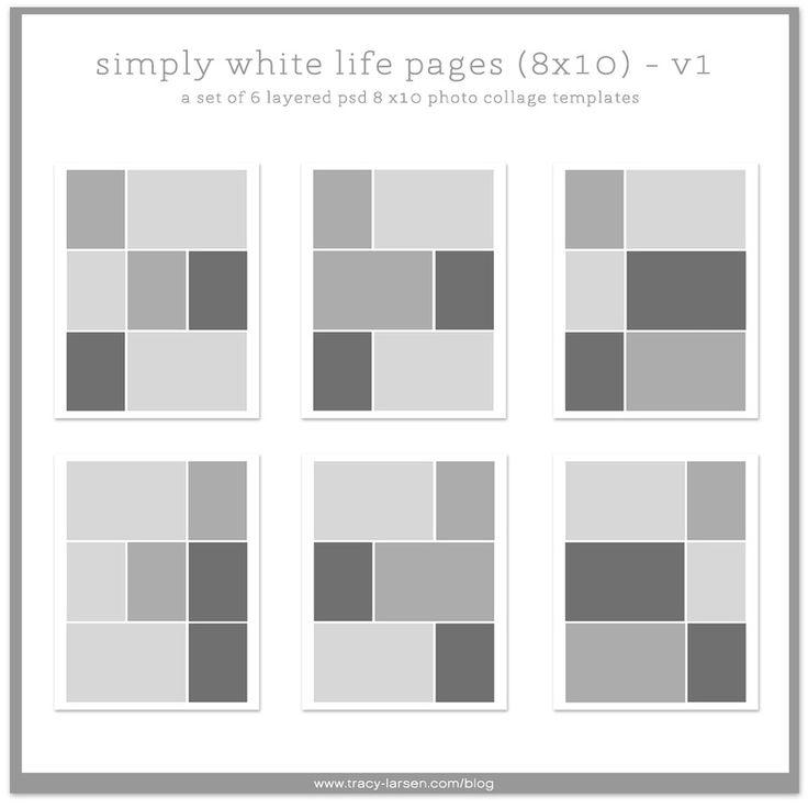 simplemente páginas blancas de la vida 8x10 plantillas de página de la foto collage de vida del proyecto, de vida del proyecto digital de bolsillo + álbum de recortes ==> tracy-larsen.com/blog