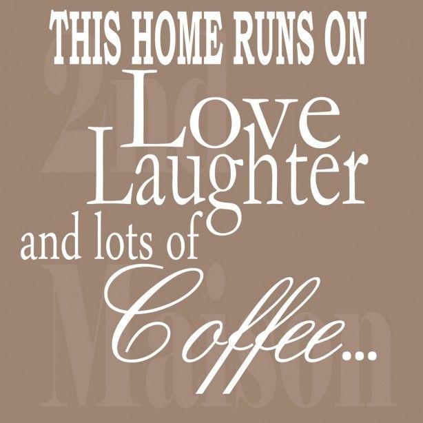 Mooie sticker voor bij de koffietafel...