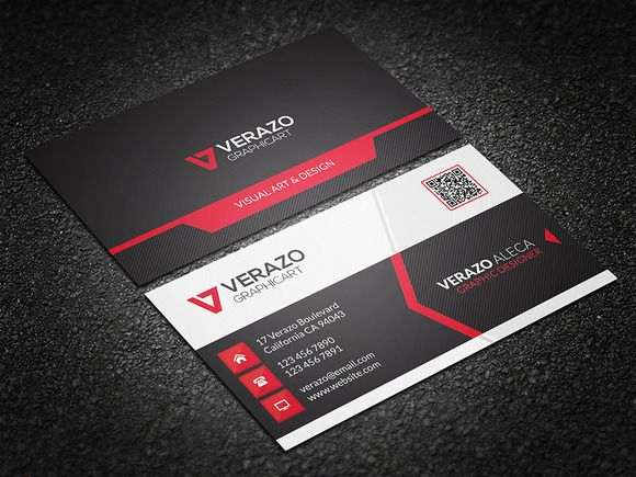 Check out Modern Corporate Business Card by Verazo on Creative Market - http://crtv.mk/j005m