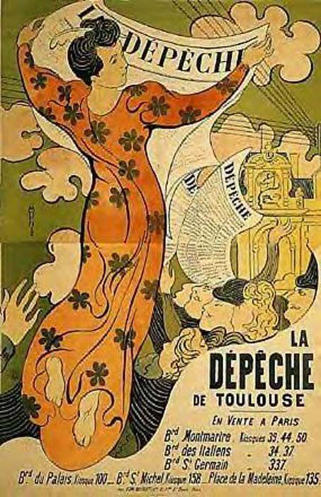 'LA DEPECHE DE TOULOUSE, NEW YORK M MODERN ART', öl von Denis Maurice (1870-1943, France)
