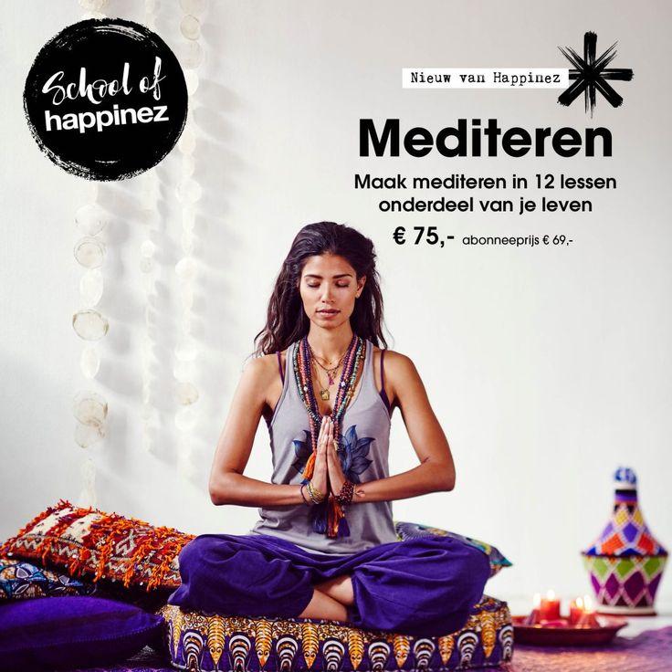 De voordelen van mediteren zijn bewezen, maar er tijd voor vrijmaken is een tweede... Met de Happinez online meditatietraining maak je mediteren in 12 lessen onderdeel van je dagelijkse routine.
