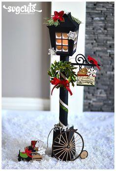 Tutorisl para decorar con esta mini lámpara tu centro de mesa navideño. #EecoracionNavidad