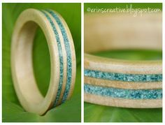 Hand Turned Wood Bracelet Tutorial - So You Think You're Crafty