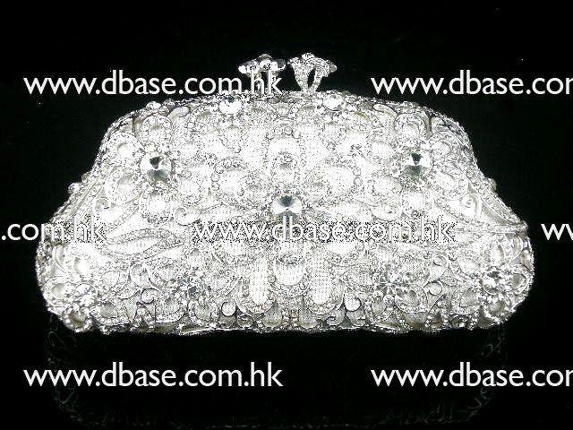 2010-003 Серебряный Кристалл Свадебные Вечеринка полый Металл Вечер кошелек клатч корпус коробки сумки
