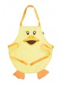 Waterproof kids apron Yellow