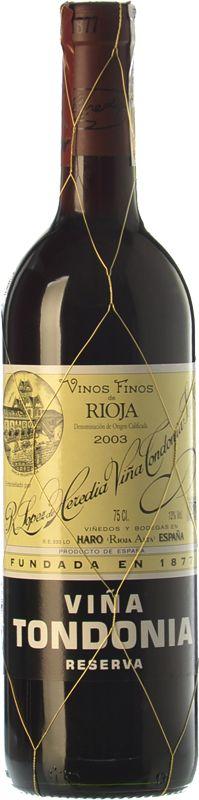 Viña Tondonia Reserva 2003 - Buy Red Reserva Wine - Rioja - Bodegas R. López de Heredia Viña Tondonia