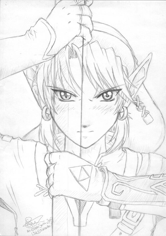 Princess Zelda Drawing | Zelda : Twilight Princess by tigerangel