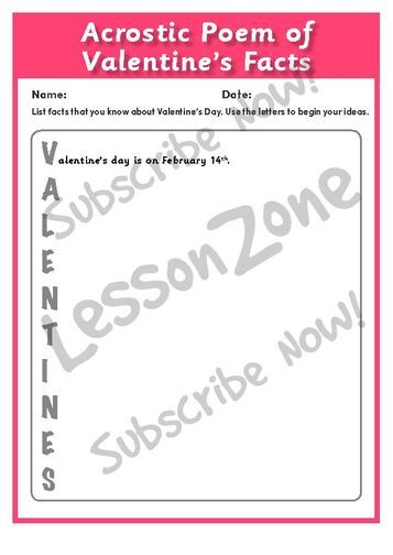 Lesson Zone UK | Valentineu0027s Day. Valentines Day Facts