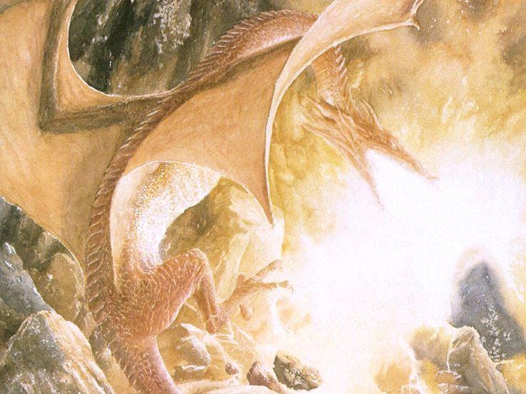 Alan Lee - The Hobbit - 20 - Smaug's fury.jpg (1024×768)