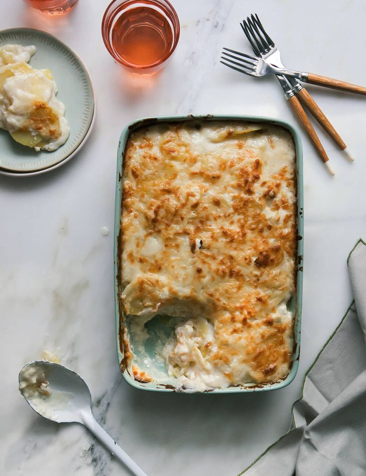 Cheesy Goat Cheese Potato Gratin – A Cozy Kitchen