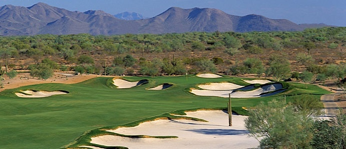 Wildfire Golf Club - Phoenix, Arizona. Visit http://ezlinks.com/arizona for discount tee times in Arizona.  Named as one of Travel & Leisure Golf's '2006 World's Best Golf Resorts'  Wildfire Golf Club is the desert gem of Phoenix and Scottsdale's golf courses; offering exciting play as well as an unparalleled Arizona getaway. Golfers of all ages and levels can test their skills at one of Wildfire Golf Club's two 18-hole championship Phoenix golf courses. #Wildfire #Golf #Tee #TImes