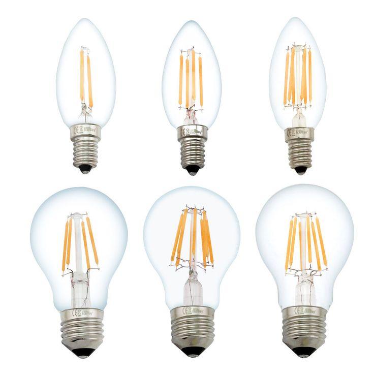 Luxury  x W W W W E E LED Filament Gl hbirne Lampe Kerzen Kugel Lampe K
