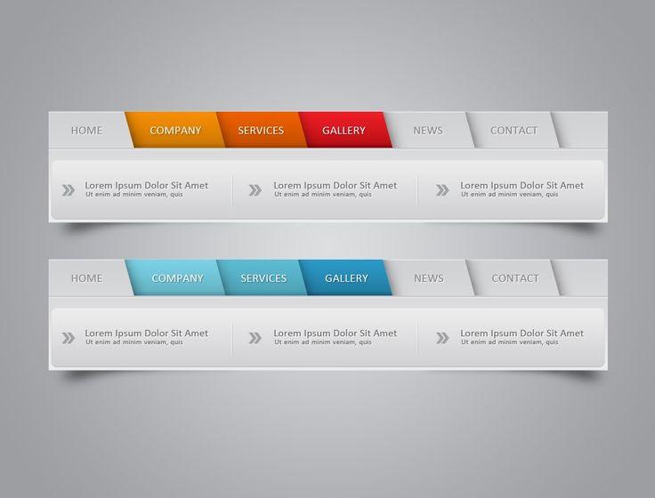 Photoshop Tutorial Web Design Web Element Navigation
