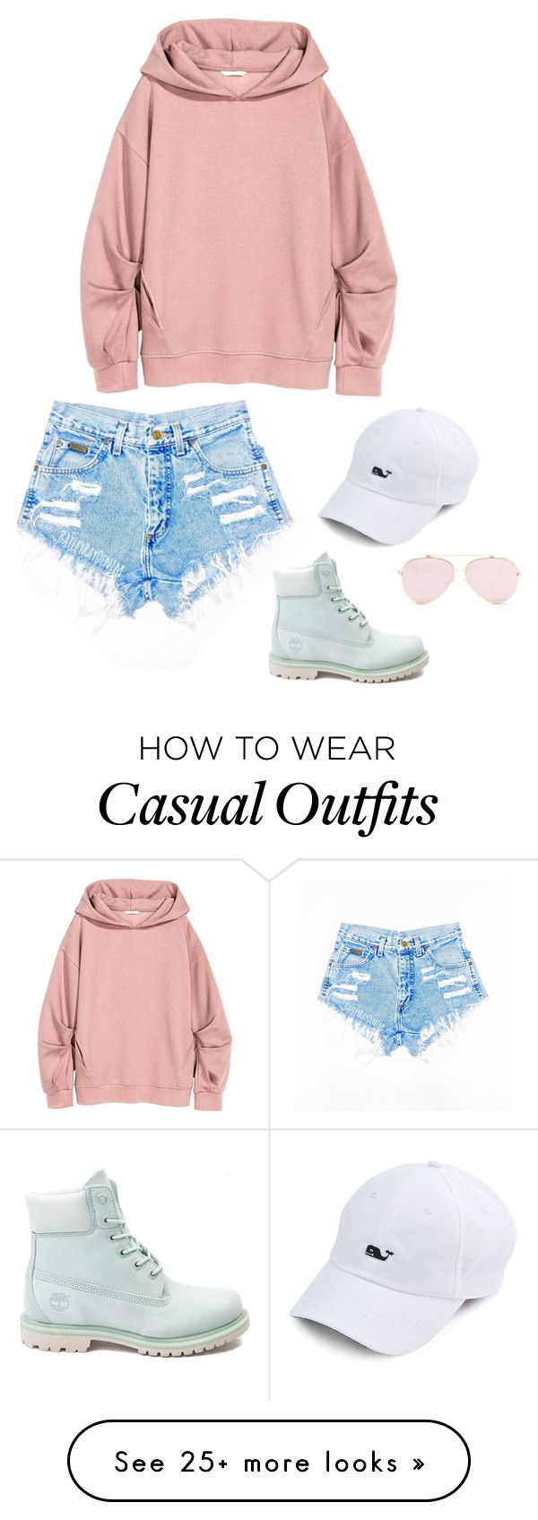 """""""Pastel--Casual"""" by luci-mccormack on Polyvore featuring Timberland"""