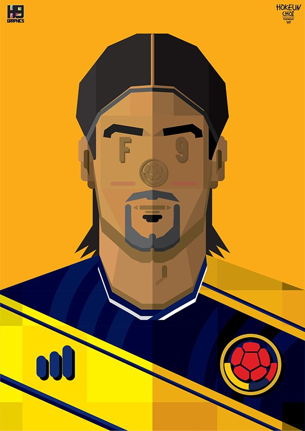 2014 WORLD CUP FOOTBALL SOCCER PLAYER ILLUSTRATION.