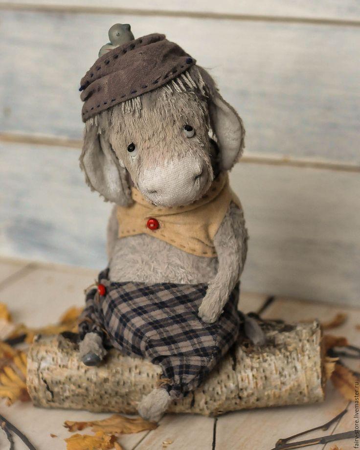 Купить Ослик Louis - серый, теддик, тедди, друг тедди, ослик, тедди ослик