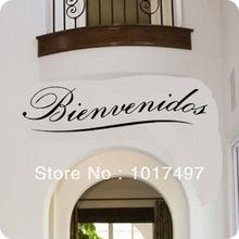 Frete grátis Bienvenidos citação de parede vinil decalque de arte de decoração citação espanhol