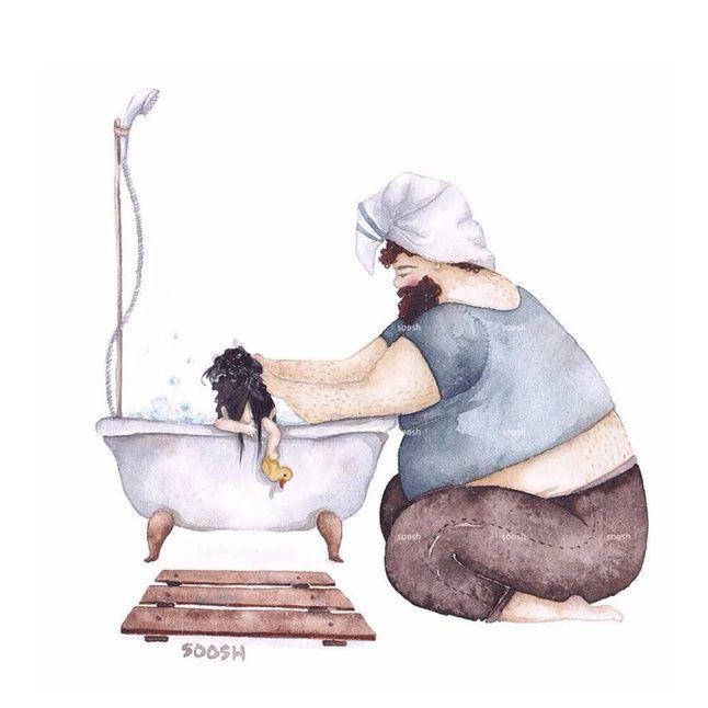 Südantsoojendavad illustratsioonid: suured issid ja pisikesed tütred - Väikelaps - Emmedeklubi