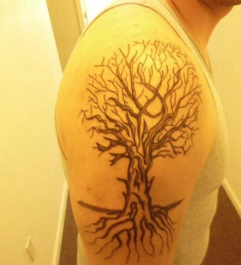 Tattoo Ideas Growth: Tree Showing Roots And Growth