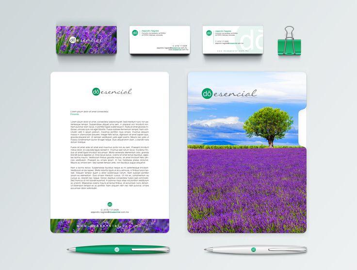 Diseño de marca publicidad y apoyos para líder de red de esencias