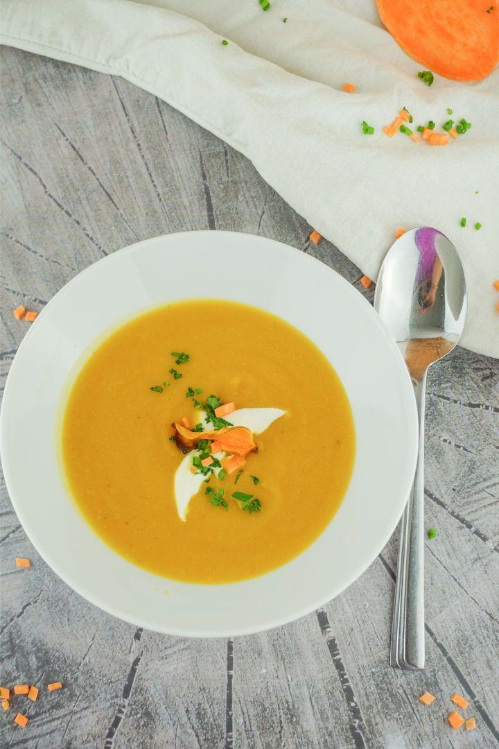 Süßkartoffel Suppe – Vegan, schnell gemacht und gesund