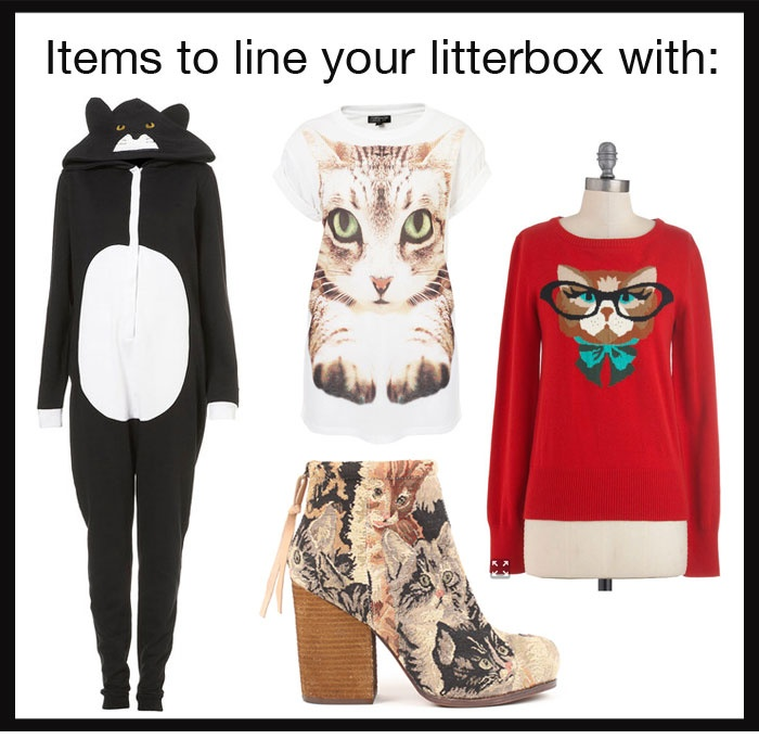 Cat fashion that should be in a litterbox - ugly cat fashion