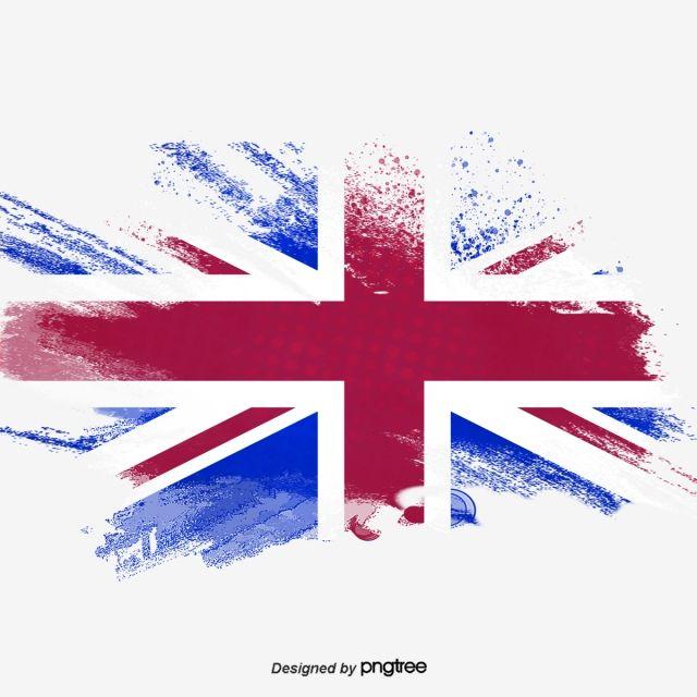 Bandeira Da Inglaterra Reino Unido De Elementos Simples Pintadas A