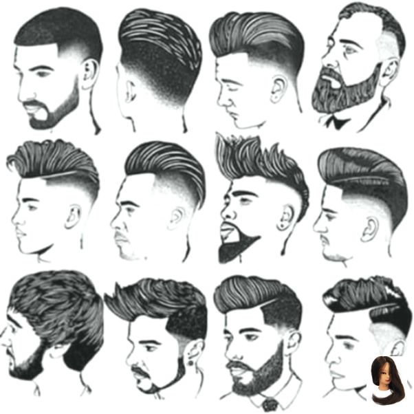 Men Shairstyles Men S Hairstyles Drawing Gents Hair Style