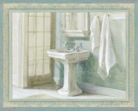 refreshing bath i by danhui nai traditional bathroom spa wall art print framedu2026