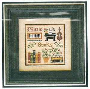 Music & Books is the title of this cross stitch pattern from Little House Needleworks - a quick sampler to stitch up and frame or finish as ...