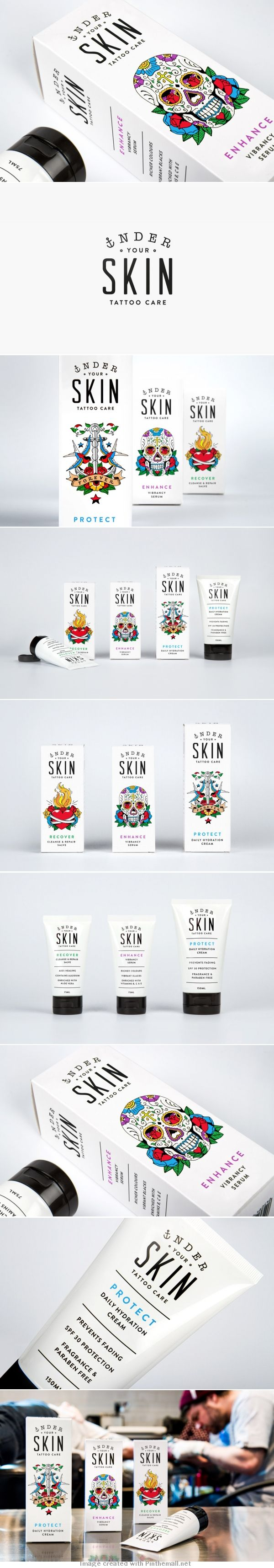New Packaging for Under Your Skin by Robot Food - love the Concept of having a tattoo design on the box.