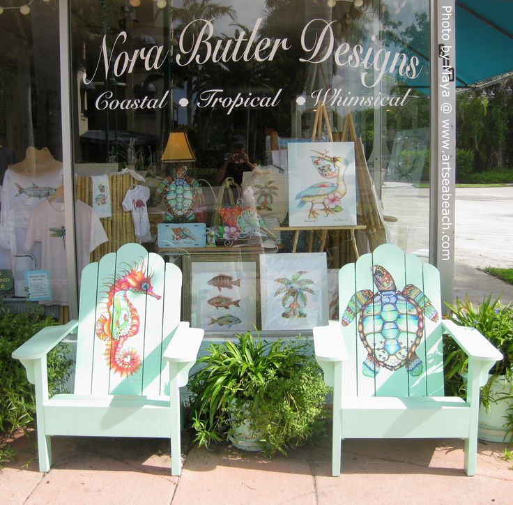 Fantasea #Adirondack chairs by Nora Butler in Naples, FL.   #floridaartists