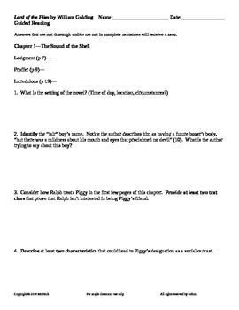 lord of the flies packet pdf