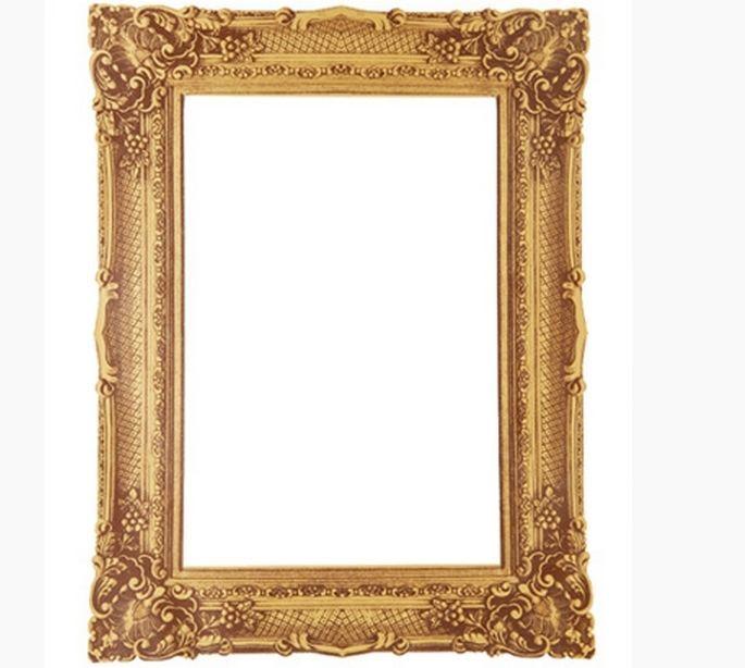 Decolfa Mirror Sticker (Square Gold) For DIY Decorate Home Interior Design Art