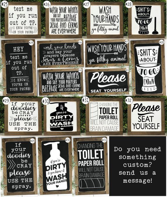 Funny Bathroom Signs Bathroom Wall Decor Kids Bathroom