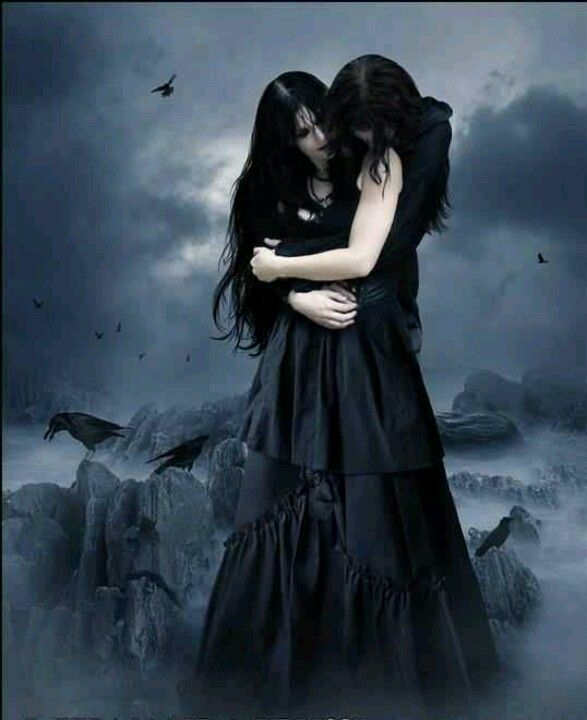 Gothic Love couple Wallpaper : 49 best Fantasy love images on Pinterest