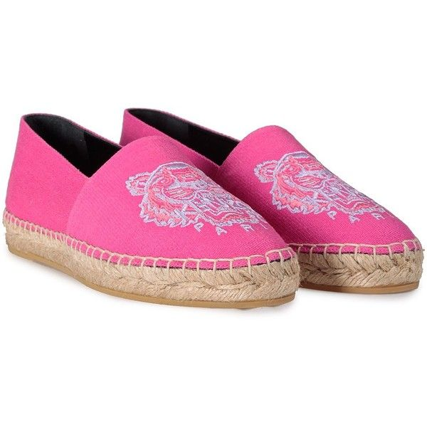 Kenzo Kenzo Tiger Canvas Espadrillas (545 BRL) ❤ liked on Polyvore featuring shoes, rosa, slip on shoes, fuschia shoes, canvas slip on shoes, woven shoes and fuchsia shoes