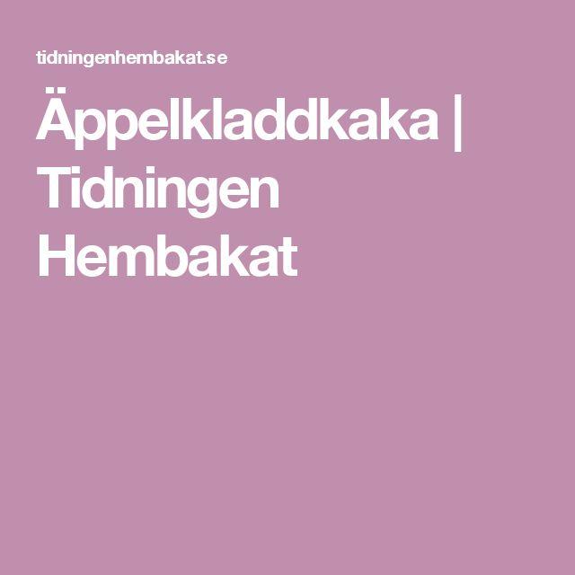 Äppelkladdkaka   Tidningen Hembakat
