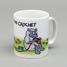 Mug Hooked On Crochet